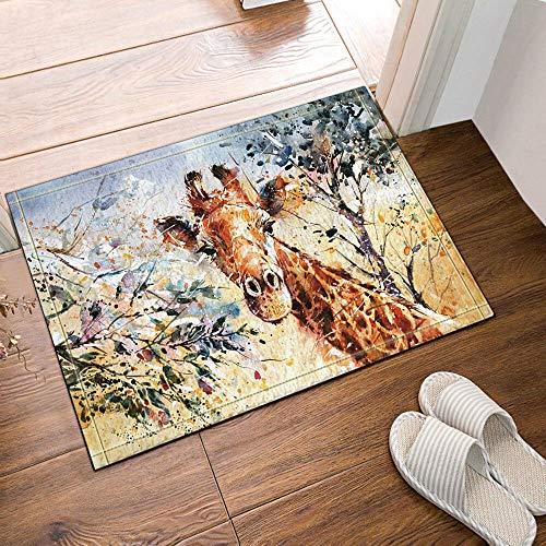 NNAYD1996 Oil painting giraffe trees 3D printing, bathroom accessories, front door, back door, kitchen, living room, toilet