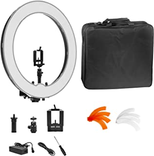 Ring Light Kit:18 inch Outer 55W Dimmable LED Ring Light for Camera,Smartphone,YouTube,Self-Portrait Shooting(No Light Stand)