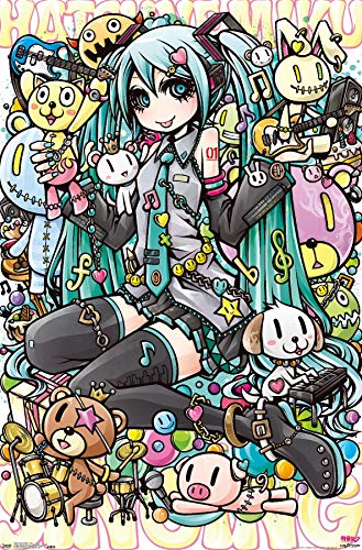 Trends International Hatsune Miku Toys Wall Poster 22.375' X 34'