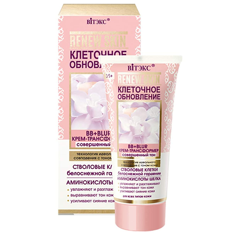 Bielita & Vitex   RENEW SKIN   BB + BLUR CREAM-TRANSFORMER   Perfect tone technology of perfect match with skin tone   moisturizes and smooths   evens out skin tone   enhances skin radiance   30 ml
