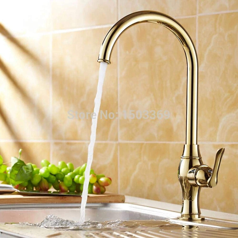 QFSLT New Kitchen Faucet Torneira Cozinha Lavabo gold Brass Water Tap Sink Basin Mixer Tap Faucet Sink Faucet