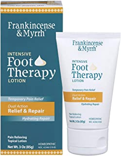 Frankincense & Myrrh Foot Pain Relief Lotion - Intensive Foot Therapy - Dual Action Pain Relief and Hydrating Skin Repair ...