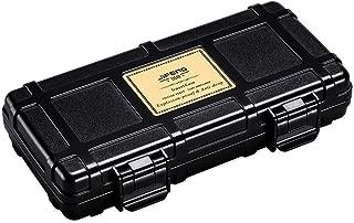 LIFANGAU Cigar Box Portable Travel Cedar Wood Cigar Box humidifier Solid Wood 2 Sticks (Color : Black)