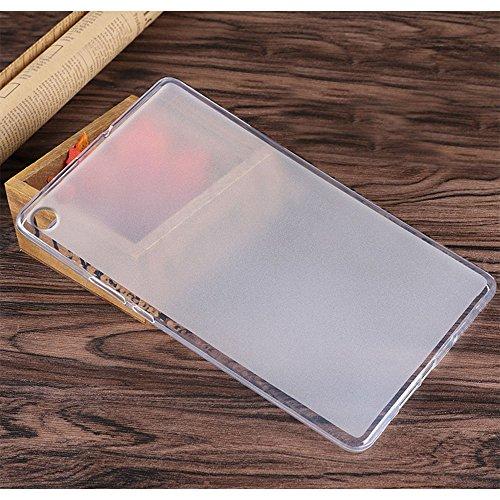 Gosento Huawei MediaPad M5 (8,4 Zoll) Hülle TPU Case, Soft Premium Flex Silikon Backcover Ultra Dünn Clear Semi-transparent Schutzhülle Tablet Cover für MediaPad M5 8.4 (Matt transparent)EINWEG - 6