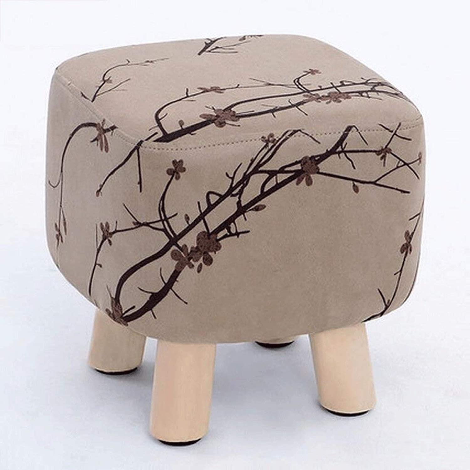 DYR Stool Solid Wood for shoes Stool Home Sofa Stool Tea Table Stool Small Stool Low Stool Round Stool (color  B)