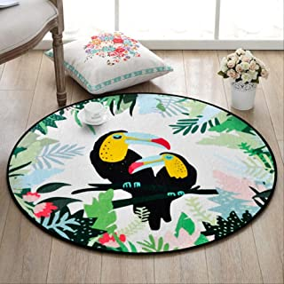 Area Rugs Carpets Cartoon Animal Round Carpet for Living Room Computer Chair Rugs and Carpets Cloakroom/Hanger Area Rug So...