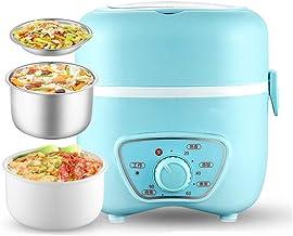 ZOUJUN Boîte électrique Déjeuner Toursion Chauffe-Alimentaire Portable avec Mini Amovible en Acier Inoxydable Rice Cooker ...