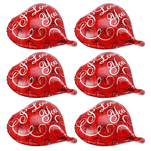 VALICLUD 10Pcs Globos de Papel de Corazón de Amor Romántico Globo de Corazón de Boda Cumpleaños Festival de Bodas Decoraciones Del Día de San Valentín (Rojo)