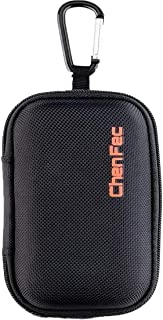 HONGYU Portable Durable MP3 Player Case,Waterproof Zipper Hard Case Carrying Case with Metal Carabiner Clip for MP3/Mp4 Pl...