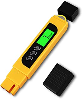 Water Quality Tester, EEEKit 3 in 1 Digital Water Test Meter Accurate and Reliable, Home Drinking Tap Water Quality Purity Test, 0-9990ppm