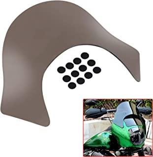 Laminar Smoke Lip Fairing Windshield Windscreen compatible For Harley Davidson Dyna Sportster Softail