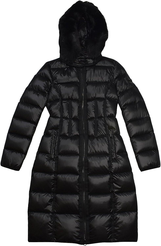 BCBGeneration BCBGMAXAZRIA Black Down Fur Coat