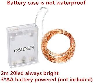 WSYYWD Luz de cuerda LED a prueba de agua con control remoto Cable ...