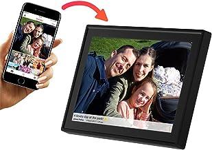 """Marco digital de fotos Denver PFF-1011BLACK. Pantalla de 10.1"""" con Wi-Fi. Comparte fotos al instante desde la aplicación móvil. Temporizador. Pantalla táctil con panel IPS. Resolución: 800x1280"""