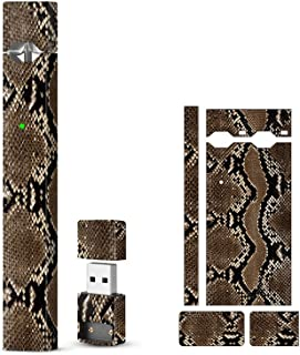 SHIODOKI 2 Pack JUUL Skin Decal for Pax JUUL - Protective Sticker for JUUL Wraps Animals Skins Dragon Style (Snake Brown)