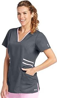 Grey's Anatomy Active 41458 Marquis Contrast Trim V-Neck Scrub Top