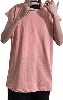 WSPLYSPJY Mens Workout Tank Top Gym Sleeveless Hip Hop Solid Tee Cotton Shirts