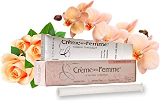 Crème De La Femme 1-Pack, Vaginal Dryness Cream Created by a Woman Doctor, Natural Menopause Dryness Remedy, Lubricant No Yeast Infection, Free Applicator Included