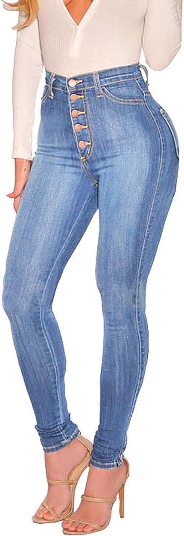 KUNMI Womens Curvy High Waist Stretch Butt Lifting Skinny Colombian Jeans