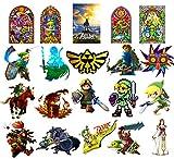 GTOTd Stickers for Legend of Zelda [Large Size:3.0-4.0inch 20 pcs], Merchandise Legend of Zelda GiftsSticker for Laptop Water Bottle Bike Graffiti