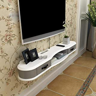 Stand de fleurs Étagère Étagère rangement Meuble de télévision mural avec tiroir for tablette de téléviseur Porte-tablette...
