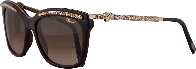 Chopard SCH211S Sunglasses Dark Havana w Brown Gradient Lens 55mm 09XK SCH 211S