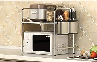 Rejilla Metálica para Microondas, Rejilla De Almacenamiento para Cocina, Rejilla para Horno, Rejilla Multifunción para Horno De Microondas CQQO (Color : B)