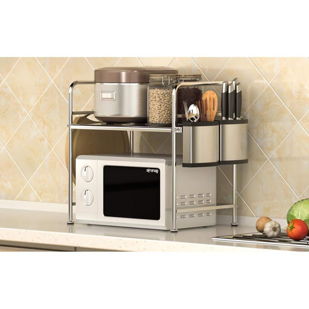 Rejilla Metálica para Microondas, Rejilla De Almacenamiento para Cocina, Rejilla para Horno, Rejilla Multifunción para Horno De Microondas CQQO (Color : B): Amazon.es
