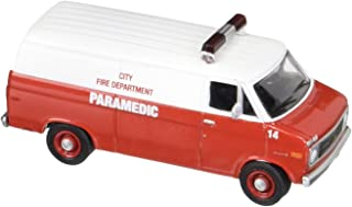 1977 Chevrolet G20 City FIRE Department Paramedic Van Hobby Exclusive 2014 Greenlight Collectibles Limited Edition 1:64 Scale Die-Cast Vehicle