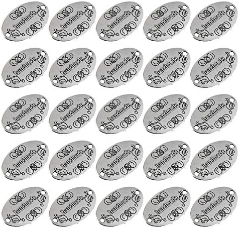 AUEAR 50 Pack Handmade Charms Tags Signs Crochet Labels for Projects Handmade Items Sewing Jewelry product image