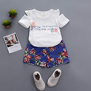 ACHICOO 服セット スカートセット スカート 半袖Tシャツ 女 子供 ガールズ キッズ 赤ちゃん 夏 素敵 フラワー プリント