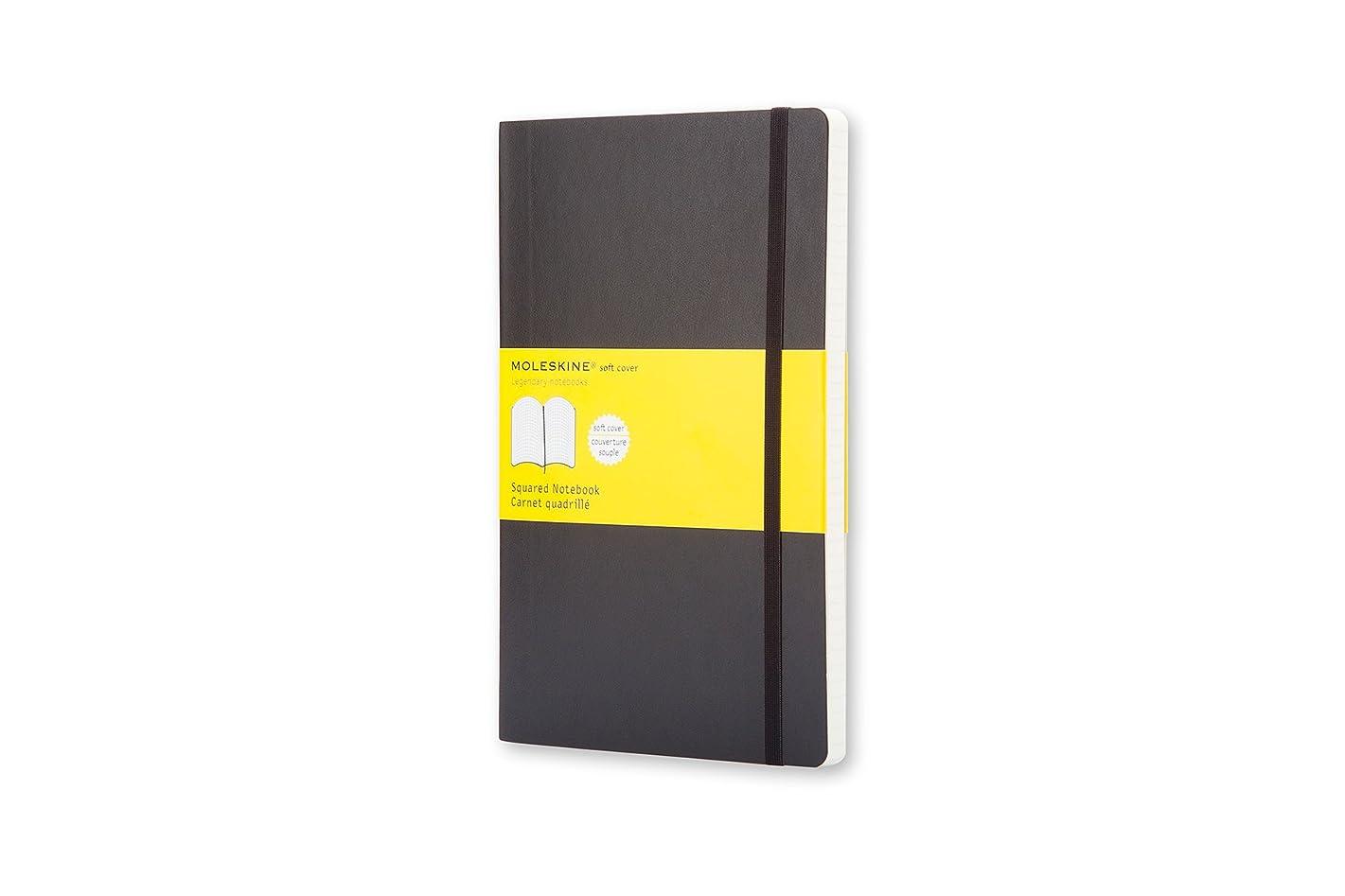 昇る十王族モレスキン ノートブック クラシック スクエアード(方眼) ソフト ポケット ブラック QP612