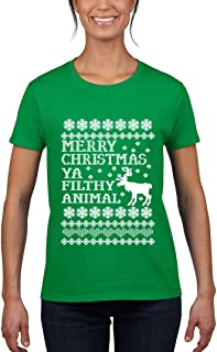 NineTeen, Merry Christmas Ya Filthy Animal Womens T-Shirt