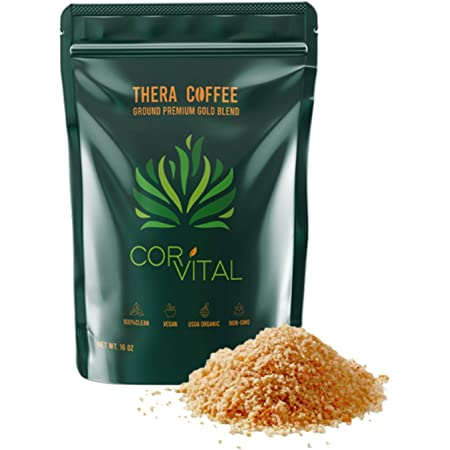 *The Real Deal* Cor-Vital 1 LB Enema Coffee Best for Coffee Enema - Gerson Approved - Colon Cleanse and Detox - Green Coffee Beans Ground w/Free Detox Recipe - Gold Roast
