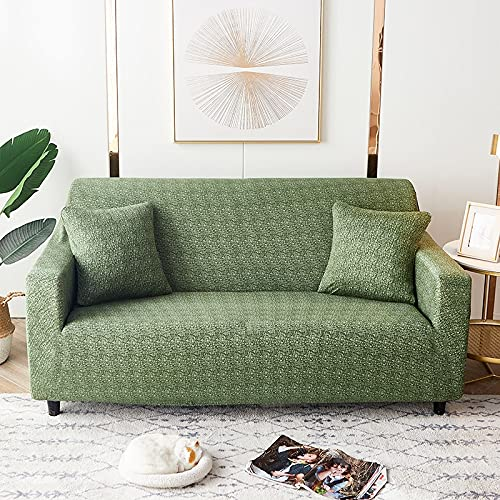 WXQY Fundas de celosía geométrica Funda de sofá elástica Funda de sofá de protección para Mascotas Funda de sofá con Esquina en Forma de L Funda de sofá con Todo Incluido A17 4 plazas