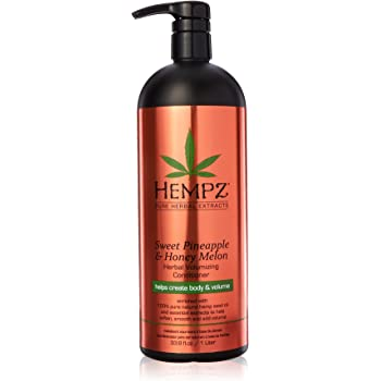 Hempz Sweet Pineapple and Honey Melon Herbal Volumizing Conditioner for Color-Treated Hair, 33.8 oz. - Restorative, Moisturizing Conditioners to Tame Heat, Humidity, Frizz - Premium Hair Products