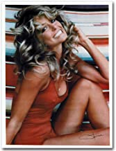Artwcm Farrah Fawcett Sexy Girl Oil Paintings Modern Canvas Prints Artwork Printed on Canvas Wall Art for Home Office Decorations-528 (Framed)