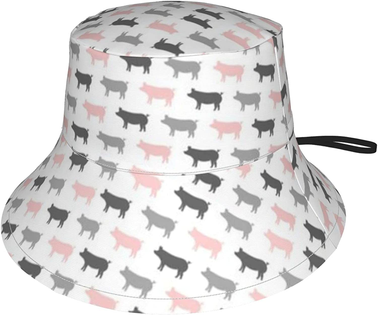 Multi OFFicial site Colored Pigs Kids Sun Atlanta Mall Breathable Fis Upf50+ Bucket Hat