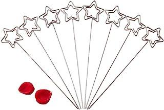 Zetiling Clip Kartenhalter, 50er Pack Tischkartenhalter Memo Floral Pick Clip Fotokarte Picture Memo Papier Hinweis Display Clip Halter (Silber, 50er Pack)(3#)