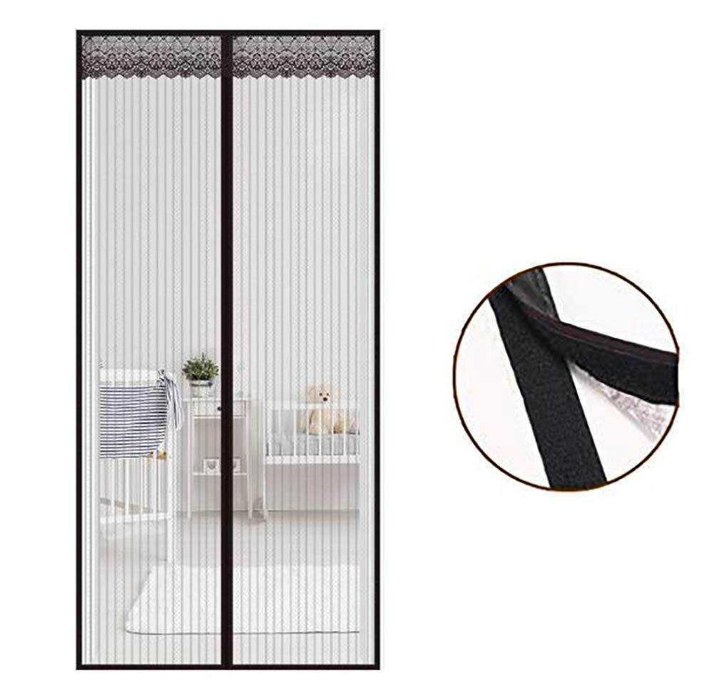 Ruber - Puerta mosquitera magnética de Malla Resistente y instantánea para Patio francés de Cristal Deslizante, Manos Libres, Garaje, Apto para Mascotas: Amazon.es: Hogar
