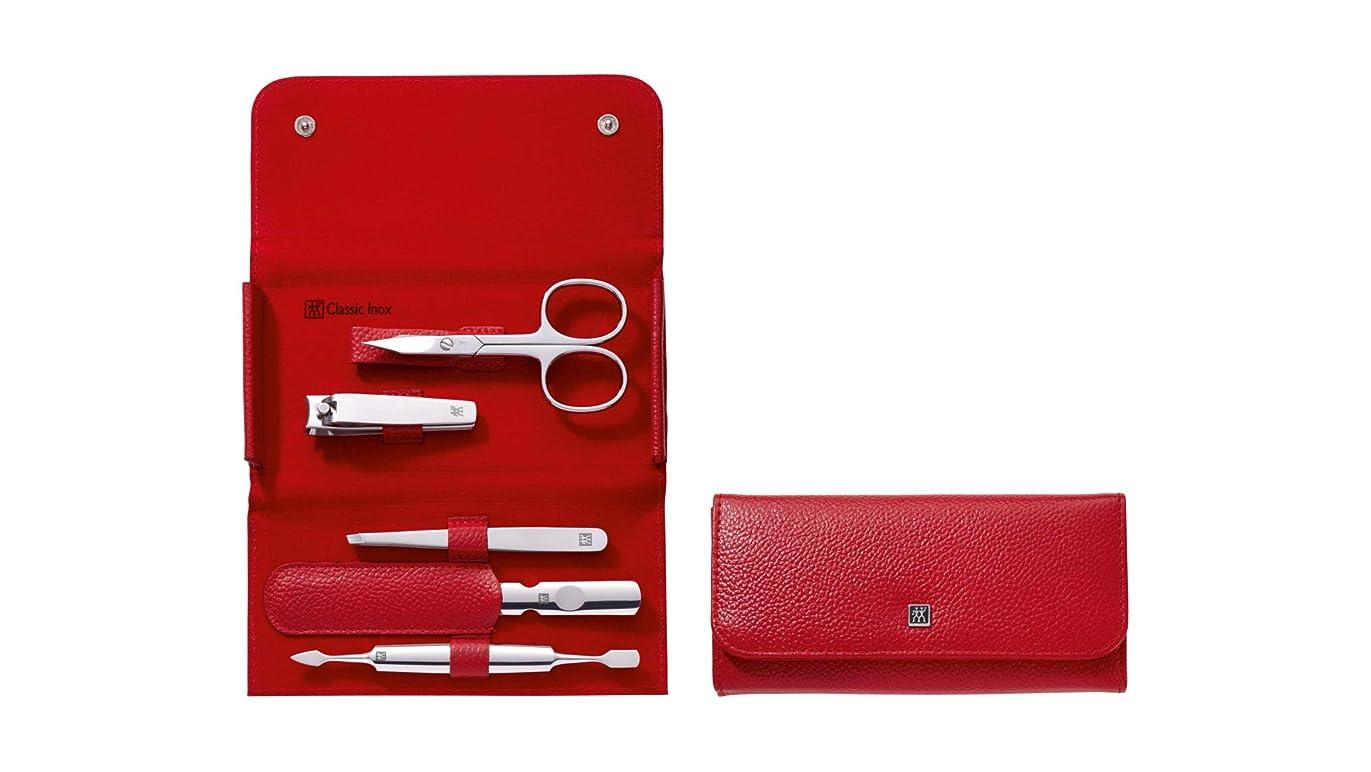 ビルマ異常好奇心盛Zwilling CLASSIC INOX Manicure Set, Red, 5pcs