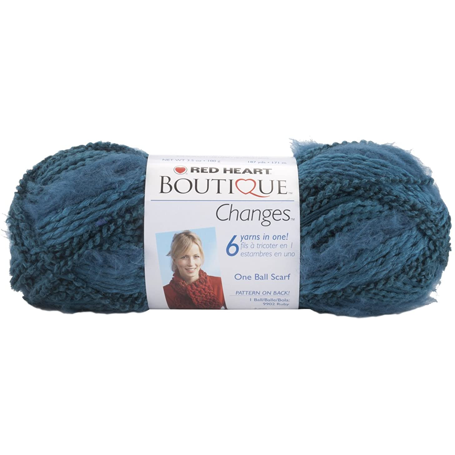 Coats: Yarn Red Heart Boutique Changes Yarn, Aquamarine