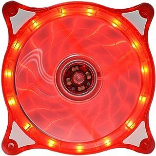 Likeitwell 12CM LED Colorido Cristal de escritorio Ventilador de escritorio Ventilador para ventilador de computadora