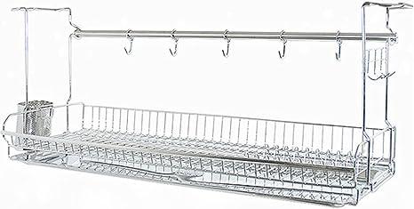 Amazon Com Inex Stainless Kitchen Cabinets Mount Dish Drying Shelf Kitchen Organizer