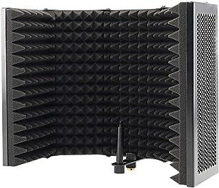 JVSISM 5 Panel Foldable Studio Microphone Isolation Shield Recording Sound Absorber Foam Panel