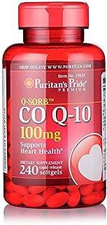 Puritan's Pride 普丽普莱 辅酶Q10软胶囊 100mg 240粒/瓶 ?;ば脑嗵峁┒?美国品牌 包税