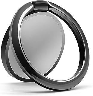 スマホリング バンカーリング 3㎜薄型 ホールドリング 携帯リング 落下防止 車載ホルダー 360°回転 全機種対応 スマホスタンドリング iPhone Xperia Galaxy ARROWS HUAWEI