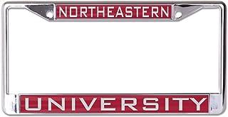 WinCraft Northeastern University Huskies Premium License Plate Frame, Metal with Inlaid Acrylic, 2 Mount Holes