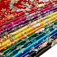 サテンのどのシルク生地中国ベゴニア花ダマスク織ブロケードDIY (パープルレッド, メーターで販売)