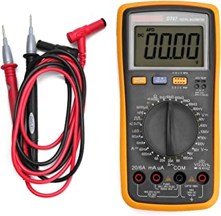 Digital Multimeter, DT87 Multimeter 6000 Counts AC/DC Volt Amp Ohm Capacitance Frequency Duty Cycle Diode Test